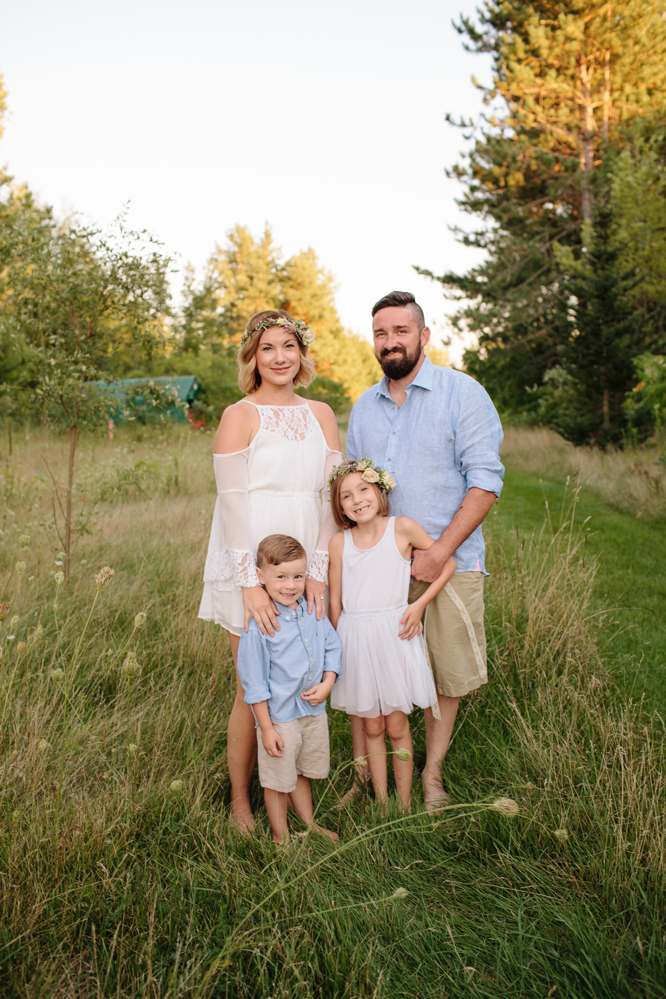 family lifestyle portrait in field
