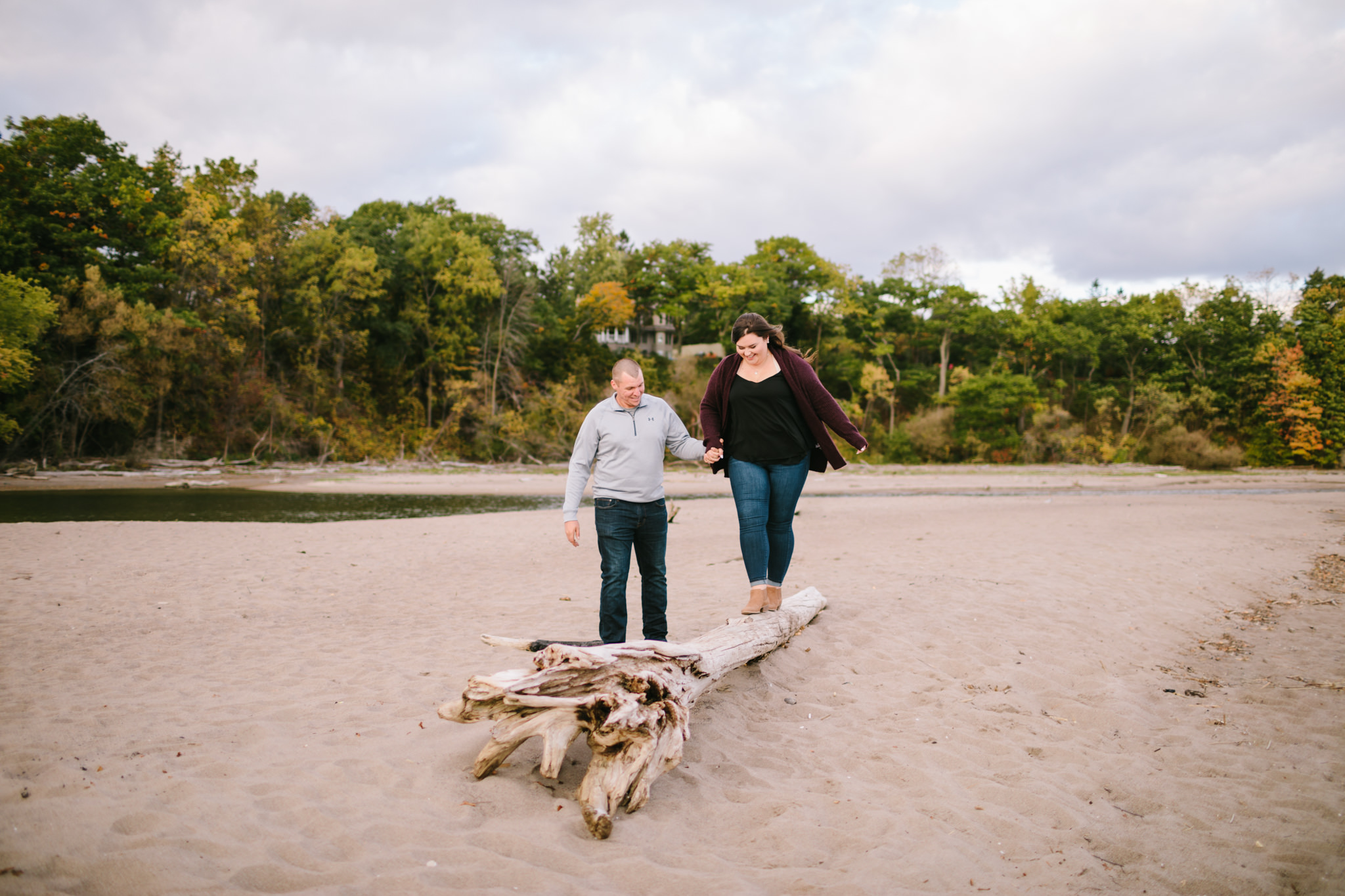 rouge beach engagement session