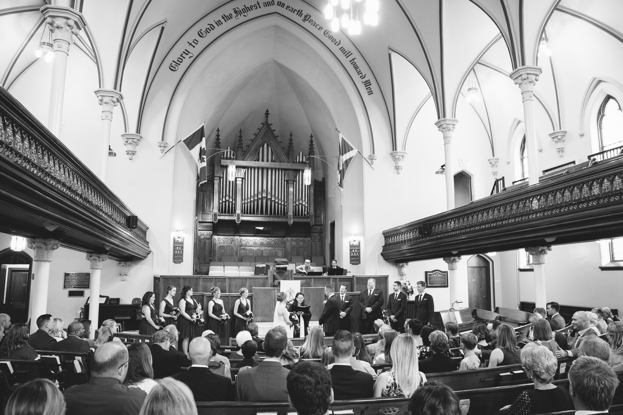 wedding ceremony in St. Andrews church