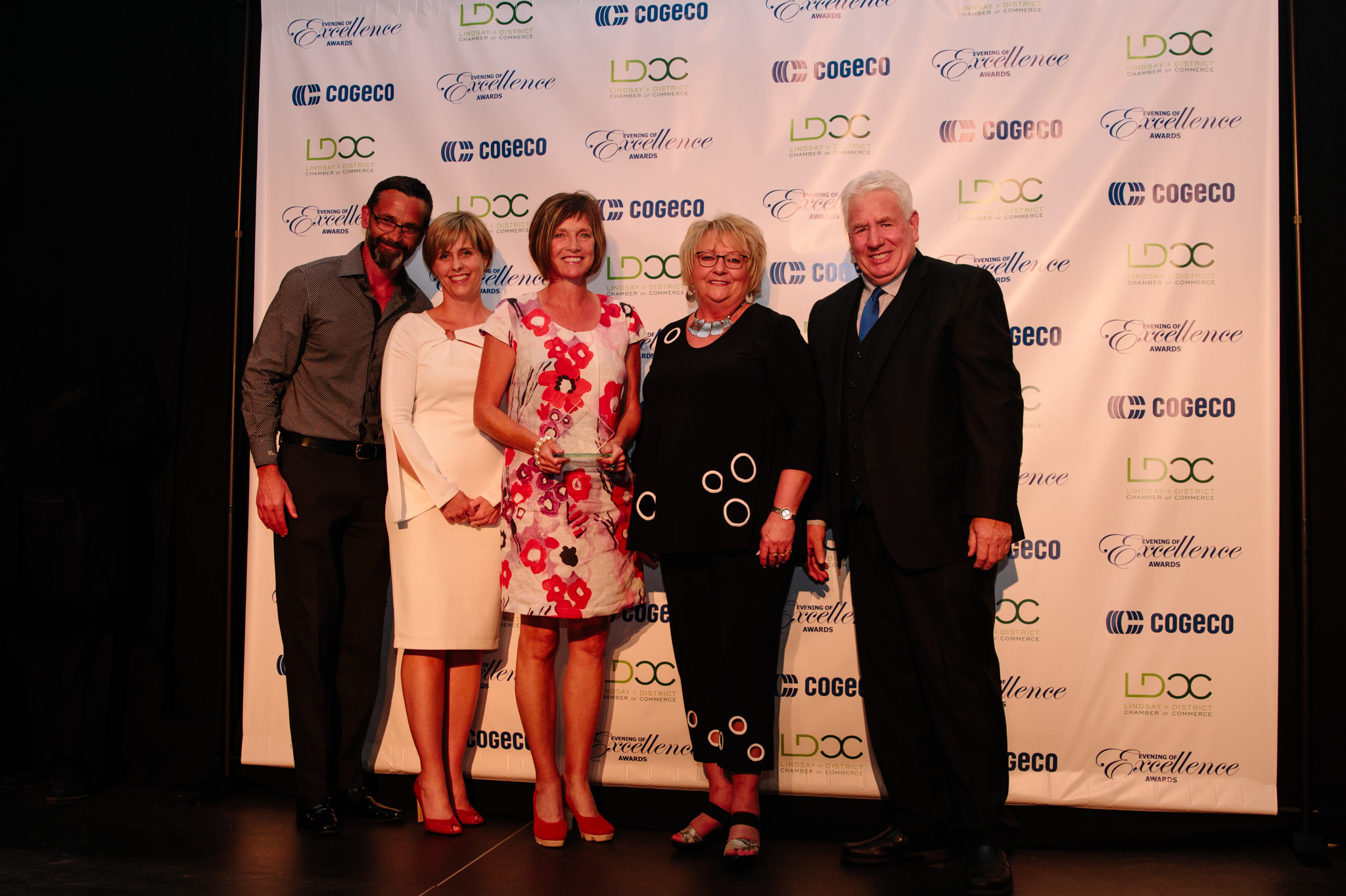 acceptance photo for volunteer award at evening of excellence